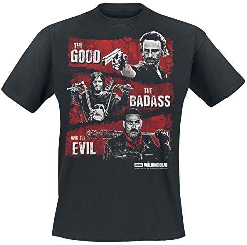 The Walking Dead Good, Badass, Evil T-Shirt schwarz L