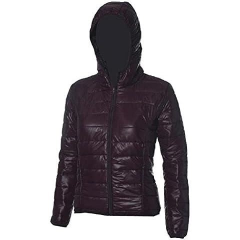Koly Delgado caliente de invierno Color caramelo Slim mujer abajo chaqueta (marrón, XL)