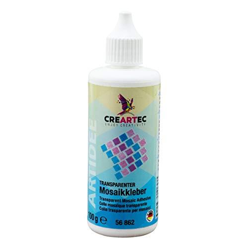 CREARTEC transparenter Mosaikkleber - Schmucksteinkleber für nicht saugfähige Untergründe - 100g - Made in Germany