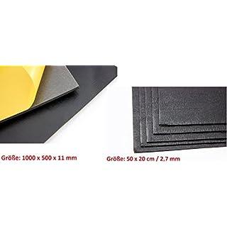 DSM Schaumstoffmatte 1.000 x 500 x 11mm (2 Stück = 1 m²) + ADM-Matte Anti/Droehn/Matte, 50 x 20 cm 2,7 mm dick selbstklebend (10 Stück = 1 m²) Schallisolierung Schallabsorber Dämmung Schallakustik Noppenschaum Akustikschaum Schaumstoff Dämmschaummatten Dämmschaummatte Noppenschaum Akustiknoppenschaum Schallisolierung Dämmung