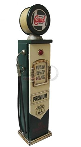 'Retro Vintage Armario/pared armario 'Castrol surtidor con iluminación–Verde/Crema
