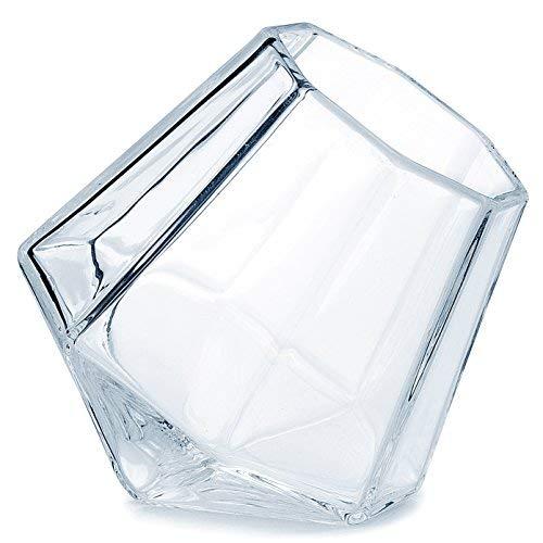 (Dragon Glaswaren Diamant Shot Gläser–Schwere Basis klar Tumbler für Tequila, Whiskey, Wodka und Spirituosen–1,7Unzen, Set 2Stück (in Geschenkverpackung))