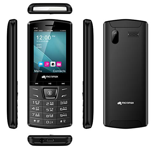 Micromax X741 (Black, Ultra Bright LED Light, 1750mAh)