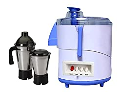 ASC Green Home Piano Juicer Mixer Grinder 550W With 2 Stainless steel Jar ( White & Blue )