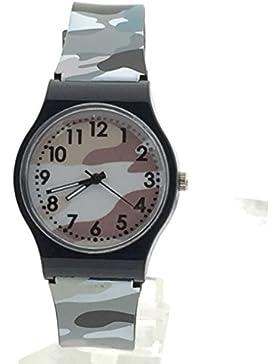 Yogogo Camouflage Kinder Quartz Analog Armbanduhr , 1 Cent Artikel | Silikonband | Dekoration | Geschenk | Alugehäuse...