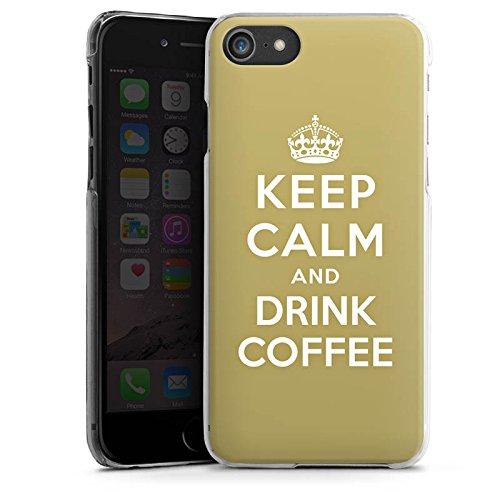 Apple iPhone X Silikon Hülle Case Schutzhülle Keep Calm Kaffee Coffee Hard Case transparent