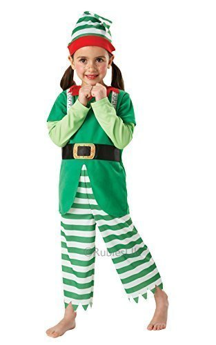 a's Helfer Helpful Elfen Weihnachtskostüm Outfit - Grün, 3-4 Years, Grün (Santas Helfer Kostüme)