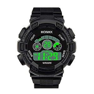 Mode Herren Uhren Digital Heer LED Analoger Alarm Datum Sport Wasserdicht Intelligent Armbanduhr Uhr Groveerble