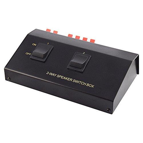 Audio Lautsprecher Umschaltbox Switch für 4 Boxen / Schwarz