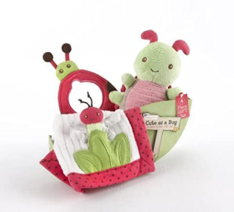Baby Aspen Cute As a Bug 4 Piece Critter Gift Set (Discontinued by Manufacturer) by Baby Aspen