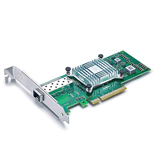 10Gtek® 10GbE PCIE Tarjeta de Red para Intel X520-DA1-82599ES Chip, Single SFP+ Puerto, 10Gbit PCI Express x8 LAN Adapter, 10Gb Nic para Windows Server, Win8, 10, Linux, 3-Year Warranty