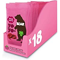 Bear Yoyo 100 Percent Fruit Rolls Raspberry 20 g (Pack of 18)