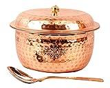 Best Copper Cookwares - Indian Art Villa Hammered Steel Copper Casserole Bowl Review