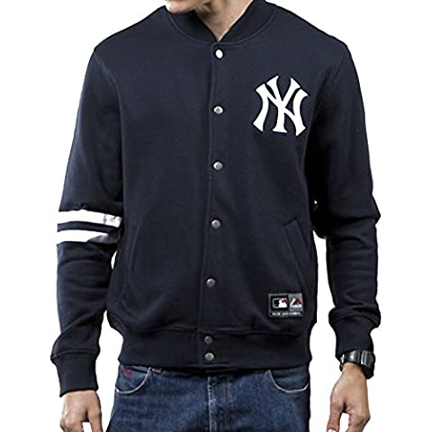 Chaqueta Majestic – Mlb Emodin Fleece Letterman New York Yankees azul talla: M (Medium)
