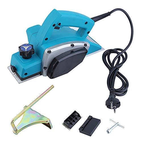 Blackpoolal Elektrohobel 600W Hobel Elektrisch Hobelmaschine Handhobel für Holz Einhandhobel Fräse Blau
