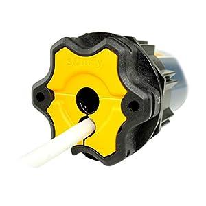 Somfy Smart Home Funk Rolladenmotor Oximo 50 io (10/17) inkl. Einbruchschutz durch 3 patentierte Hochschiebesicherungen, Motorlager, Anschlusskabel und SW 60 Adapter/Mitnehmer.
