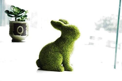 Oamore coniglio ornamenti home decor coniglio figura statua lebensecht coniglietto pasquale per interni ed esterni da giardino decorazione, sitting, large
