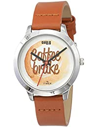 Gully by Timex Coffee Analog White Dial Women's Watch-TW000T622