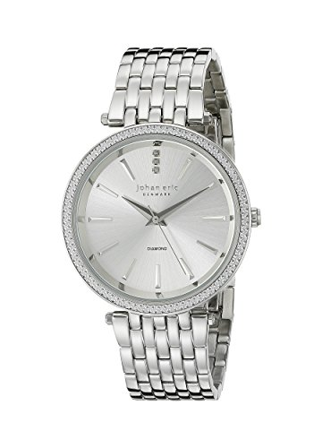 johan eric women's je-f1000-04-001b fredericia analog display quartz silver watch