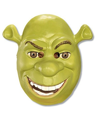 Shrek Halbmaske grün mit Augenöffnung