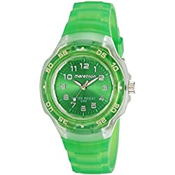 Timex Sport Marathon Midsize Jelly Watches Green Dial Green Resin Strap Watch - T5K3664E