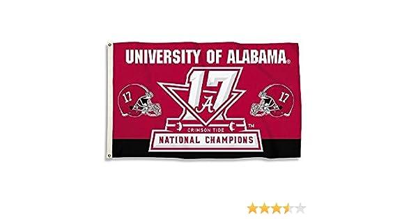 BSI NCAA Alabama Crimson Tide Alabama Crimson Tide2017 Football Champ 3 x 5 Flagalabama Crimson Tide2017 Football Champ 3 x 5 Flag Multi Not Applicable