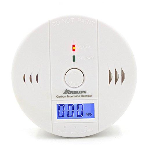Arikon–Rilevatore di monossido di carbonio CO, alimentato a batteria, con sensore di allarme di avvelenamento, schermo digitale LCD, (batteria non