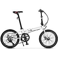 XMIMI Bicicleta Plegable Cambio de aleación de Aluminio Doble Freno de Disco Bicicleta Plegable 20 Pulgadas