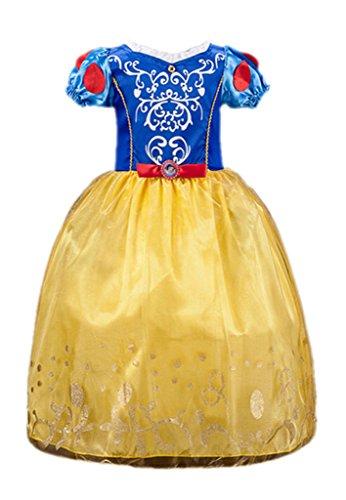 Ninimour Prinzessin Kleid Grimms Märchen Kostüm Cosplay Mädchen Halloween Kostüm Schneewittchen, - Alle Kind-halloween-kostüme