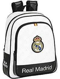 Safta Real Madrid Mochila Infantil Adaptable, Color Blanco