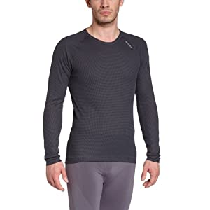41GlkU4wDAL. SS300  - ODLO Men's Long-Sleeved Vest with Crew Neck Cubic