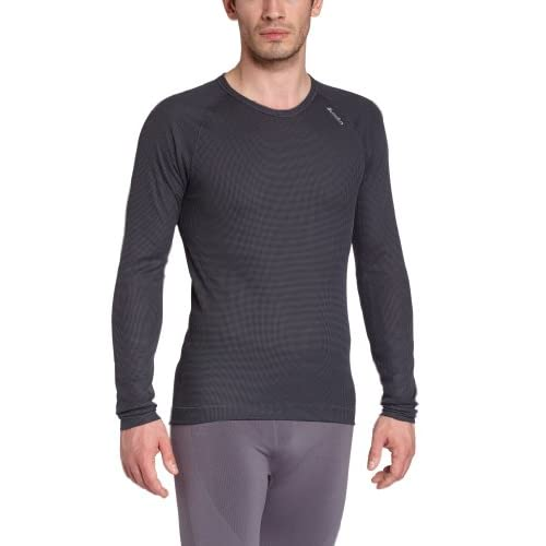 41GlkU4wDAL. SS500  - ODLO Men's Long-Sleeved Vest with Crew Neck Cubic