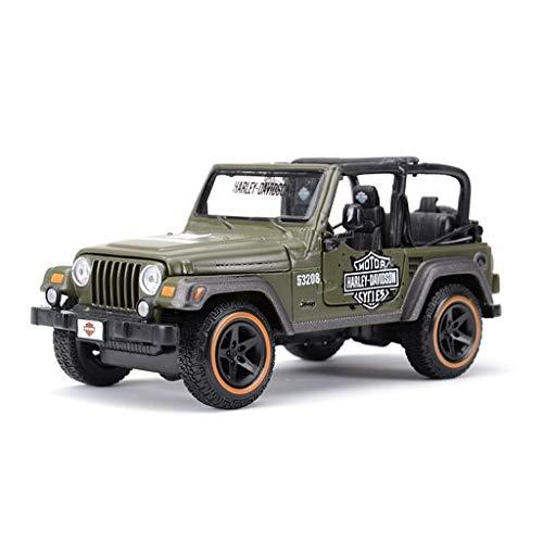 Maisto Modello Auto 1:24 High Simulator Modello in Metallo Auto Jeep Jeep Wrangler Model Car Lega Giocattoli per Bambini Collezione Regalo Scala Simulazione Veicolo ( Color : Red )