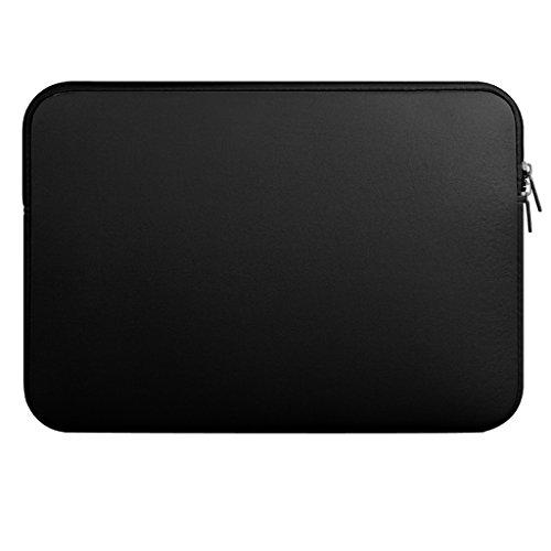 Laptop Hülle Tragetasche Schutzhülle Laptophülle Laptop Tasche für Macbook Mac Air/Pro/Retina - Schwarz, 13 Zoll (Laptop-air-mac-fall)