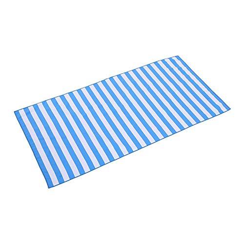 Gestreiften Strand Handtuch (Pepional Microfaser Strandtuch schnell trocken leichtes Handtuch gestreiftes perfekt für Strand, Reisen, Yoga, Sport, Fitness, Schwimmen & Camping)