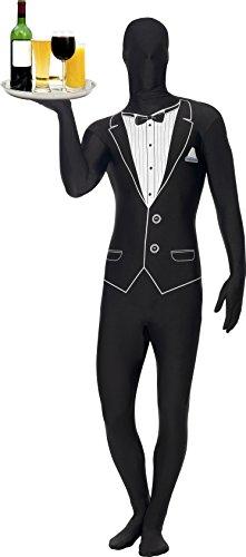 m Butler Kostüm schwarz Kellner Kellnerkostüm Ganzkörperkostüm Diener Gr. 48/50 (M), 52/54 (L), 56/58 (XL), Größe:M (Tuxedo Skin Suit)