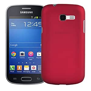 Wow Matte Rubberized Finish Hard Case For Samsung Galaxy Trend S7392-red