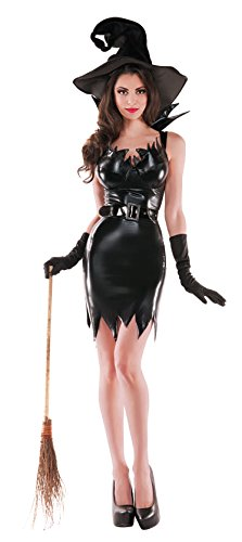 Party King Liquid Black Witch Costume (King Witch Kostüm)