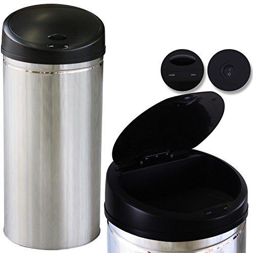 Kesser® Sensor Mülleimer ✓ Automatik ✓ Abfalleimer ✓ Abfall | EDELSTAHL | Farbe: Silber | Größe: 30 L