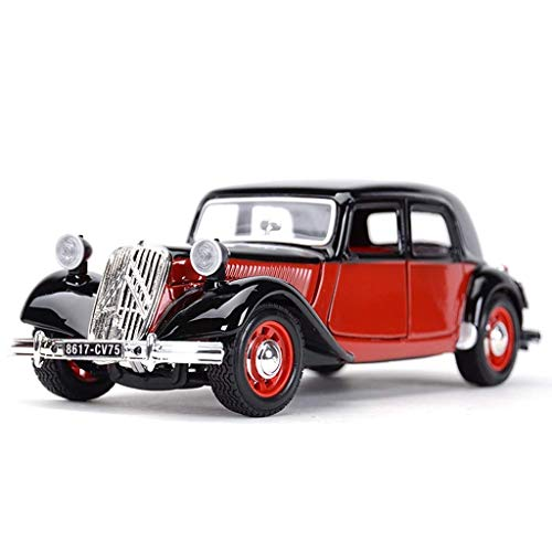 Skwenp 1:24 Citroen Tracción Avant-garde Simulación Aleación Fundición a presión Modelo de coche Joyas de juguete for coches Joyas de coches deportivos Modelo de coche Citroen Coche clásico Simulación