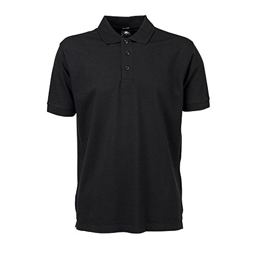 S/s Polo-tee (Tee Jays - Mens Stretch Deluxe Polo / Black, S S,Black)