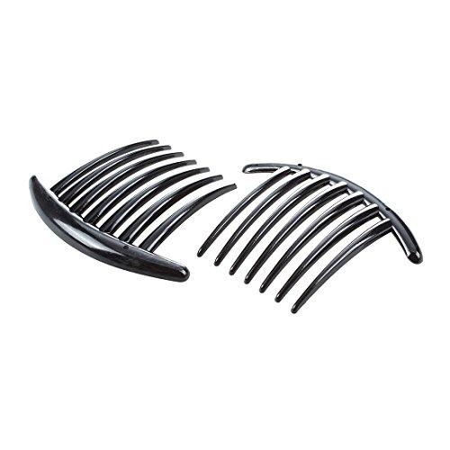 SODIAL(R) 2pcs Peigne Barrette Accessoires Plastique Dame Femmes Mode Noir