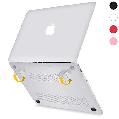 """Funda para MacBook Air de 13 Pulgadas, Funda Dura 2-en-1 ultra Delgado Esmerilado con Soporte Plegable Beatunes para MacBook Air 13.3 """"(solo para A1369 y A1466), MC-A701 Transparente"""
