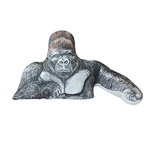LiQinKeJi8 Chimpanzeen Plüsch Kissen Kuschel Dekor Tier Gorilla-Kissen weich Umarmbar kreative AFFE Kissen Props Kissen 45 * 90cm Stofftier Geschenk für Kinder/Paare / (Color : Pillow)