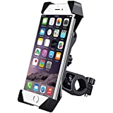 HUMBLE Universal 360 Degree Adjustable Mobile Phone Holder for Bicycle | Bike | Motorcycle | Ideal for Maps | Navigation | Charging - Black