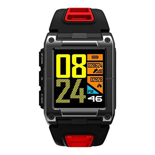 Huhuswwbin orologio sportivo orologio da polso impermeabile da nuoto con frequenza cardiaca gps orologio da polso sportivo bluetooth - rosso