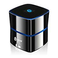 Bluetooth Speakers, iClever Mini Portable Travel Speaker, Rechargeable with Enhanced Bass, Super-Sized 5W Driver, Built-in Microphone for iPhone, iPad, Samsung, Echo, Nexus, HTC, Laptops and More-[Zinc Alloy Shell]