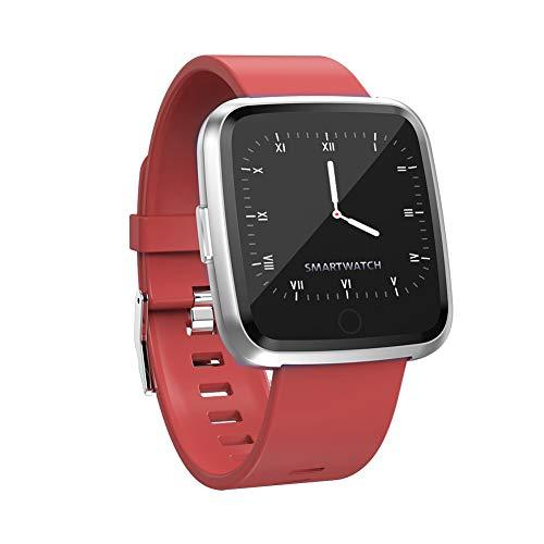 9302sonoaud Moniteur de fréquence cardiaque avec écran Tactile Y7 - Podomètre - Rappelez Le Bracelet Sport Intelligent Rosso
