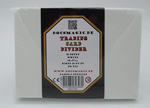 docsmagic.de 50 Trading Card Deck Divider White - Kartentrenner Weiss - 68 x 97 mm