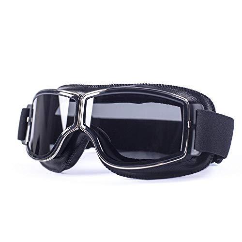 XYQY brille Universal Motorrad Vintage Brille Pilot Aviator Motorrad Roller Biker Gläser Steampunk Für Harley HelmRauch Objektiv -